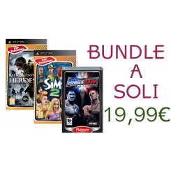 BUNDLE 3 GIOCHI NUOVI PER PSP - SMACKDOWN VS RAW 2006 + MEDAL OF HONOR HEROES 2 + THE SIMS 2