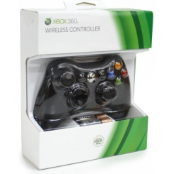 CONTROLLER PER XBOX 360 NERO WIRELESS ORIGINALE
