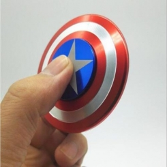 FIDGET SPINNER CAPTAIN AMERICA IN PLASTICA