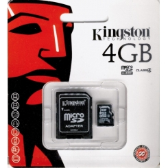 Micro SD Kingston con Adattatore 4GB